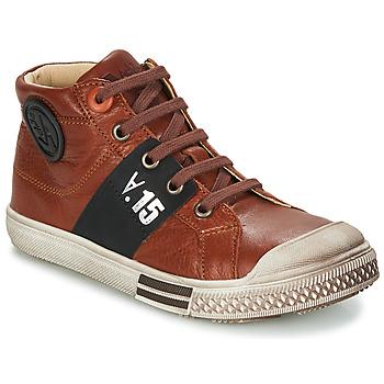 Sapatos Rapaz Botas baixas GBB RUFINO Castanho