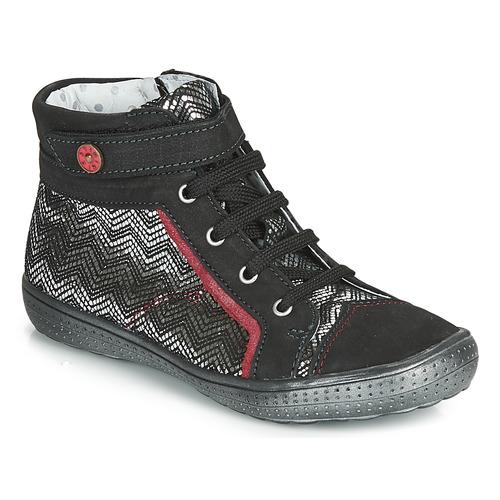 Sapatos Rapariga Sapatilhas de cano-alto Catimini ROSIERE Preto / Prata