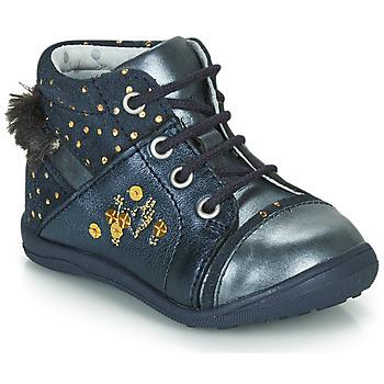 Sapatos Rapariga Botas baixas Catimini ROULETTE Marinho - pintas / Dourado