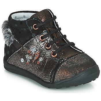 Sapatos Rapariga Botas baixas Catimini ROULETTE Preto - cobre