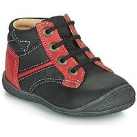 Sapatos Rapaz Botas baixas Catimini RATON Preto-vermelho