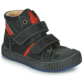 Sapatos Rapaz Sapatilhas de cano-alto Catimini RAIFORT Preto / Vermelho