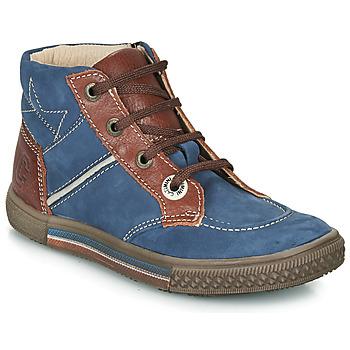 Sapatos Rapaz Botas baixas Catimini RUMEX Azul / Castanho
