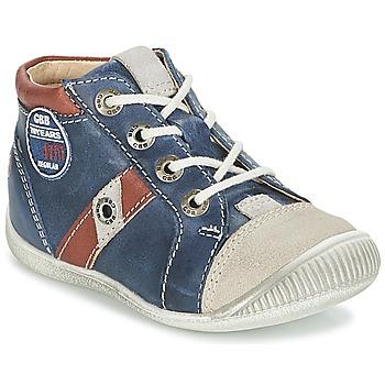 Sapatos Rapaz Sapatilhas GBB SILVIO Marinho / Castanho