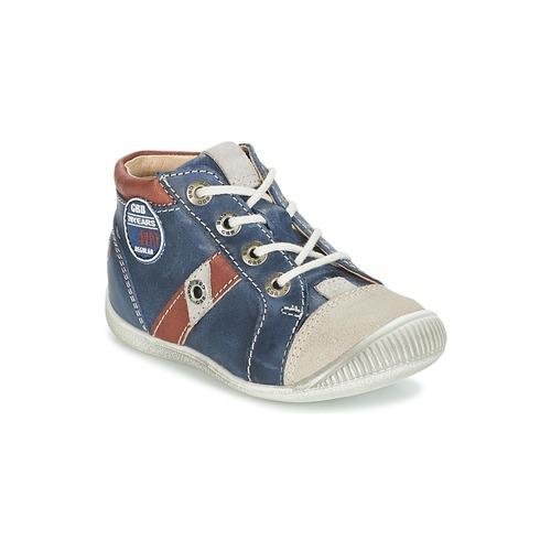Sapatos Rapaz Sapatilhas de cano-alto GBB SILVIO Marinho / Castanho