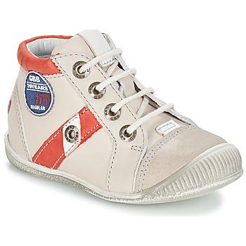 Sapatos Rapaz Botas baixas GBB SILVIO Bege / Vermelho