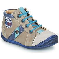 Sapatos Rapaz Botas baixas GBB SILVIO Bege / Azul