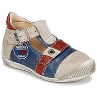 Sapatos Rapaz Sandálias GBB STANISLAS Marinho / Bege / Vermelho