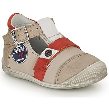 Sapatos Rapaz Sandálias GBB STANISLAS Bege / Vermelho