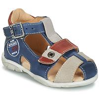 Sapatos Rapaz Sandálias GBB SULLIVAN Azul / Bege / Castanho