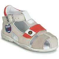 Sapatos Rapaz Sandálias GBB SULLIVAN Bege / Vermelho
