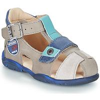 Sapatos Rapaz Sandálias GBB SULLIVAN Cinza / Azul