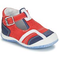 Sapatos Rapaz Sandálias GBB SIGMUND Vermelho / Azul