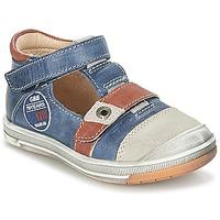 Sapatos Rapaz Sandálias GBB SOREL Marinho / Castanho