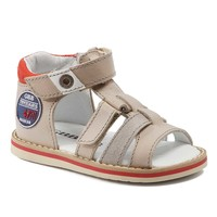 Sapatos Rapaz Sandálias GBB STEFAN Bege-vermelho