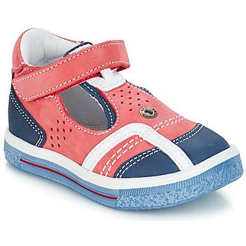 Sapatos Rapaz Sandálias GBB SALVADORE Vermelho / Azul