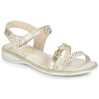 Sapatos Rapariga Sandálias GBB SWAN Branco / Ouro