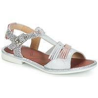 Sapatos Rapariga Sandálias GBB MARIA Prateado / Cola