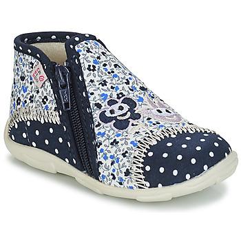 Sapatos Rapariga Chinelos GBB PILI Azul / Branco
