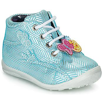 Sapatos Rapariga Sapatilhas de cano-alto Catimini SALAMANDRE Azul / Prata