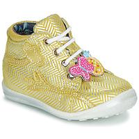 Sapatos Rapariga Botas baixas Catimini SALAMANDRE Amarelo - prateado