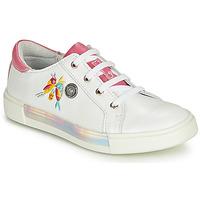 Sapatos Rapariga Sapatilhas de cano-alto Catimini SYLPHE Branco-rosa / Branco