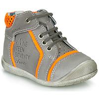 Sapatos Rapaz Botas baixas Catimini SEREVAL Cinzento-laranja / Fluo