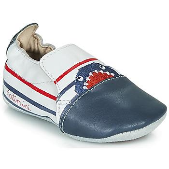 Sapatos Rapaz Chinelos Catimini SIMOCYBE Branco-marinho