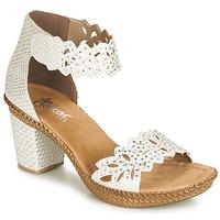 Sapatos Mulher Sandálias Rieker BELALIER Branco