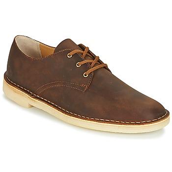 Sapatos Homem Sapatos Clarks DESERT CROSBY Castanho