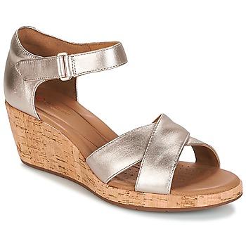 Sapatos Mulher Sandálias Clarks UN PLAZA CROSS Ouro