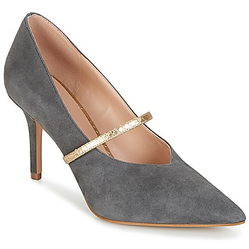 Sapatos Mulher Escarpim KG by Kurt Geiger V-CUT-MID-COURT-WITH-STRAP-GREY Cinza