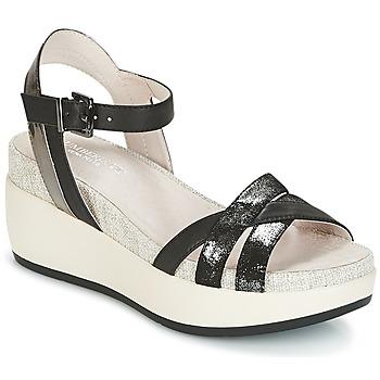 Sapatos Mulher Sandálias Lumberjack BLANCHE Preto / Prateado