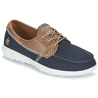 Sapatos Mulher Sapato de vela Skechers GO WALK LITE Marinho