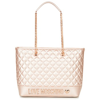 Malas Mulher Cabas / Sac shopping Love Moschino JC4003PP15 Rosa / Ouro