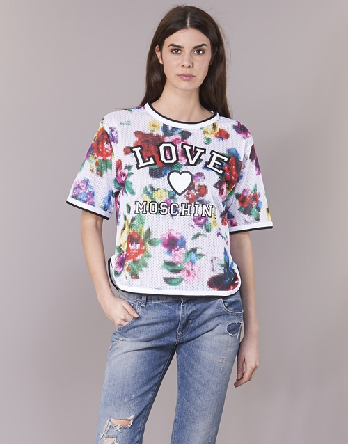 Textil Mulher Tops / Blusas Love Moschino W4G2801 Branco / Multicolor