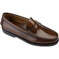 Sapatos Homem Mocassins Edward's Solas de borracha Castellanos  em Couro marrón