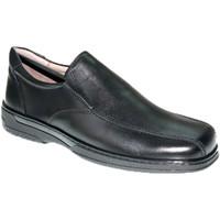 Sapatos Homem Mocassins Primocx Sapato especial masculino para diabéticos muito confortável  em negro
