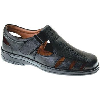 Sapatos Homem Sandálias Primocx Sandálias masculinas especiais para diabéticos muito confortávei negro