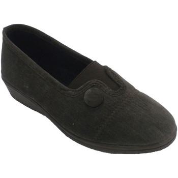 Sapatos Mulher Chinelos Made In Spain 1940 Calçado de mulher fechada elástica no pe marrón