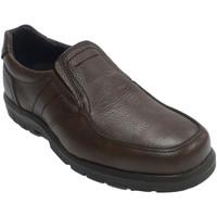 Sapatos Homem Mocassins Made In Spain 1940 Sapato de borracha de borracha elástica marrón