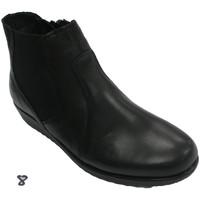 Sapatos Mulher Botins 48 Horas Botas de tornozelo feminino  em negro