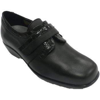 Sapatos Mulher Mocassins Trebede Sapato de couro de patente feminina  em Preto negro