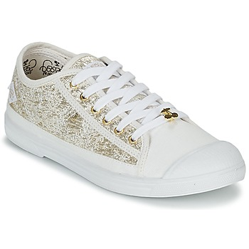 Sapatos Mulher Sapatilhas Le Temps des Cerises BASIC 02 Ouro