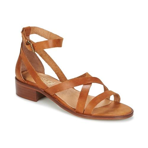 Sapatos Mulher Sandálias Casual Attitude COUTIL Castanho