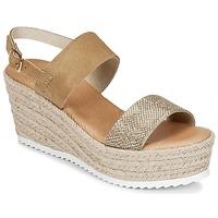 Sapatos Mulher Sandálias Casual Attitude INUIL Dourado / Castanho