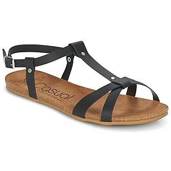 Sapatos Mulher Sandálias Casual Attitude JALIYAXE Preto