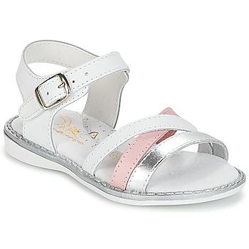 Sapatos Rapariga Sandálias Citrouille et Compagnie IZOEGL Branco / Prateado / Rosa