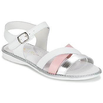 Sapatos Rapariga Sandálias Citrouille et Compagnie IZOEGL Branco / Rosa / Prateado