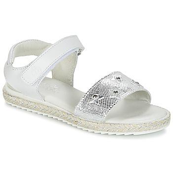 Sapatos Rapariga Sandálias Citrouille et Compagnie ILEVANDOK Branco / Prateado